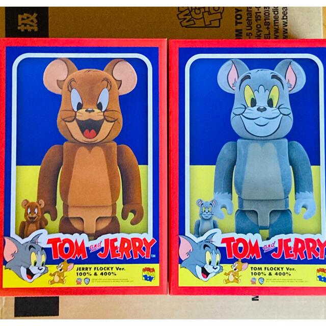 MEDICOM TOY(メディコムトイ)のTom and Jerry Flocky 100% 400% Bearbrick エンタメ/ホビーのフィギュア(その他)の商品写真