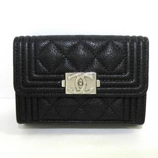 シャネル(CHANEL)のシャネル 3つ折り財布美品  A84432 黒(財布)