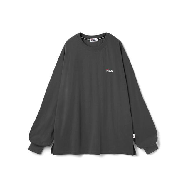 GRL(グレイル)の本日限定値下げ!GRL☆GRL FILA ビッグロンT[ar001] レディースのトップス(Tシャツ(長袖/七分))の商品写真