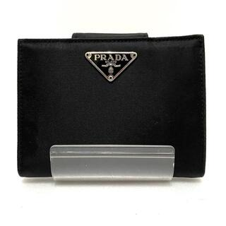 PRADA - プラダ 2つ折り財布 - M706 黒 ナイロン