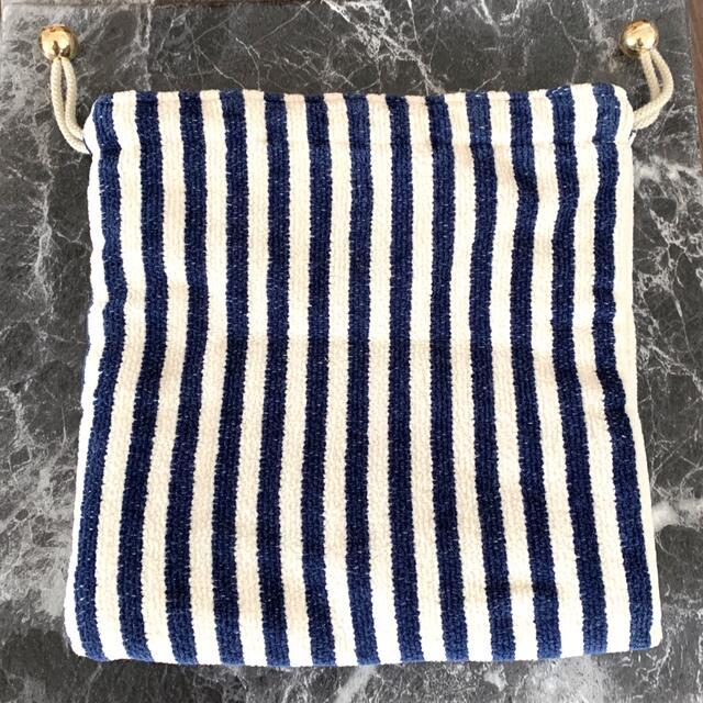FEILER(フェイラー)のフェイラー✴︎ハイジ柄限定 ストライプ巾着ポーチ 美品 レディースのファッション小物(ポーチ)の商品写真
