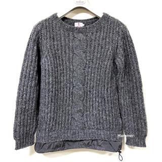 モンクレール(MONCLER)の国内正規品 美品 モンクレール アルパカ ニット セーター クルーネック S!(ニット/セーター)