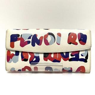 フェンディ(FENDI)のフェンディ 長財布 - 8M0340 白×マルチ(財布)