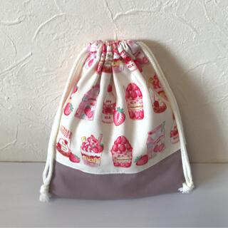コップ袋 いちご 女の子 ハンドメイド(外出用品)