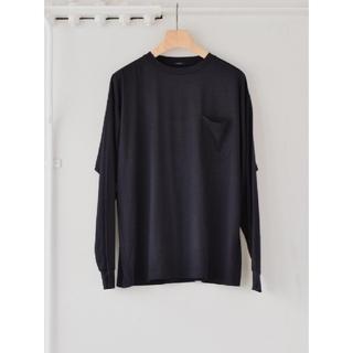 コモリ(COMOLI)の新品■21AW COMOLI サマーウール長袖クルー 3 ロンT カットソー(Tシャツ/カットソー(七分/長袖))