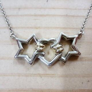 ティファニー(Tiffany & Co.)のティファニー SV925/K18 スターハートネックレス(ネックレス)