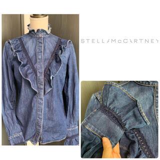 Stella McCartney - ステラマッカートニー デニムフリル シャツ
