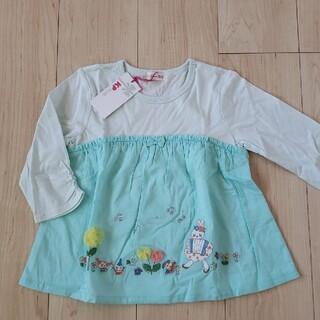 ニットプランナー(KP)の【新品】KPニットプランナー×七分袖Tシャツ mimiちゃん 120cm(Tシャツ/カットソー)