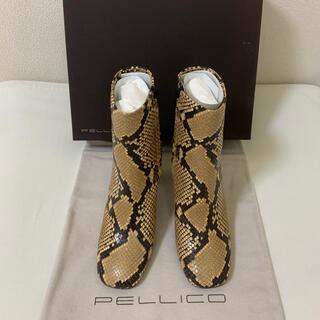 ペリーコ(PELLICO)の富岡佳子さん愛用★8.3万円 新品 ペリーコ ブーツ 23.5cm パイソン(ブーツ)