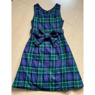 ジェーンマープル(JaneMarple)のジェーンマープル タータンチェックパネルドレス(ひざ丈ワンピース)