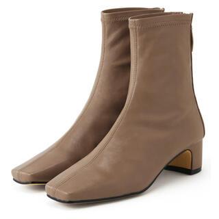 グレイル(GRL)のストレッチスクエアトゥショートブーツ[zr652](ブーツ)