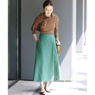イエナ(IENA)の新品タグ付き イエナ 圧縮ウール スカート(ロングスカート)