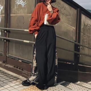 Ameri VINTAGE - 【AMERI】 LAYERED WIDE PANTS スカーフドッキングパンツ