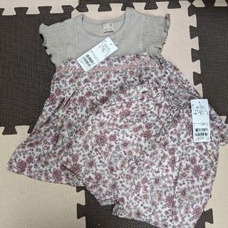 プティマイン(petit main)の【新品】プティマイン 花柄 セットアップ 100サイズ(Tシャツ/カットソー)