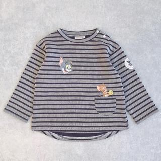 プティマイン(petit main)の新品未使用!プティマイン❤︎トムとジェリー ボーダーロンT(Tシャツ/カットソー)