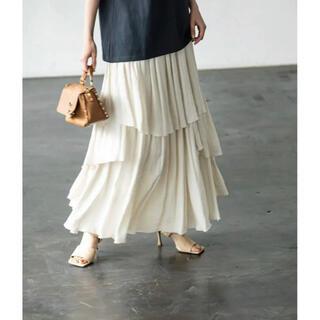 スピックアンドスパンノーブル(Spick and Span Noble)の新品 ノーブル ランダムティアードロングスカート  NOBLE(ロングスカート)