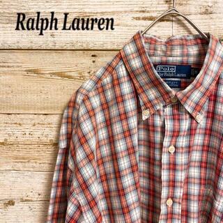 ポロラルフローレン(POLO RALPH LAUREN)の《BDシャツ》Ralph Lauren チェック柄 マルチカラー 長袖 L(シャツ)