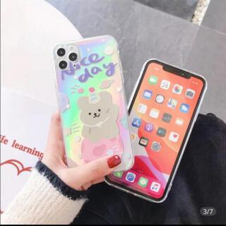 CHUMS - iPhone12mini ケース スマホ 韓国 テディベア くま