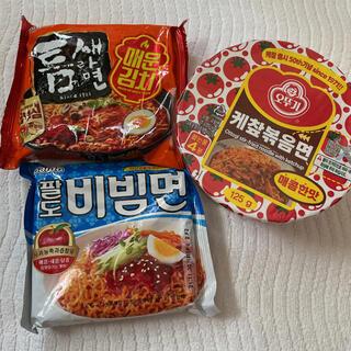 【日本未発売含む】韓国食品 韓国インスタントラーメン 3点(麺類)