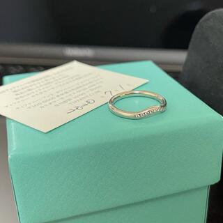 ティファニー(Tiffany & Co.)のカーブド バンドリング ダイヤモンド 9pダイヤ サイズ9号(リング(指輪))
