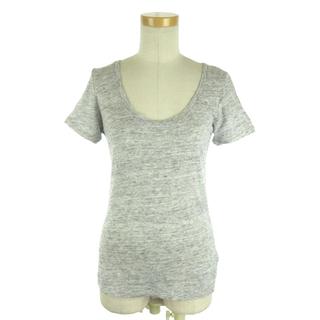 セオリー(theory)のセオリー 15SS Tシャツ 半袖 ラウンドネック リネン S グレー ECR8(Tシャツ(半袖/袖なし))