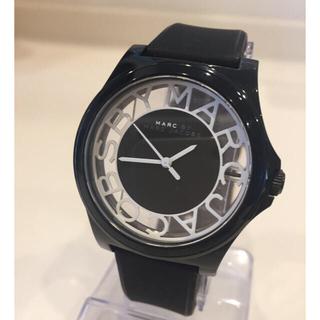 マークバイマークジェイコブス(MARC BY MARC JACOBS)の美品マークバイマークジェイコブス40㎜ブラックスケルトンレディース(腕時計)