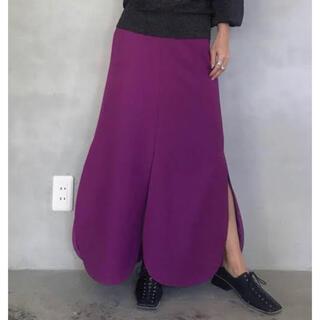 アメリヴィンテージ(Ameri VINTAGE)のAmeri♡ほぼ未使用 パープル花びらロングスカート 早いもの勝ち!(ロングスカート)
