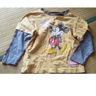 ディズニー(Disney)のサイズ4 ミッキーマウス 重ね着風 長袖(Tシャツ/カットソー)