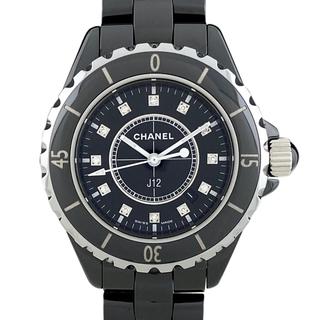 シャネル(CHANEL)のシャネル J12 12Pダイヤモンド H1625 クォーツ レディース 【中古】(腕時計)