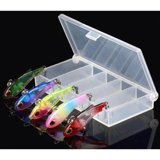 新品 小型バイブレーション 約40mm 4g 5本セット チヌ キビレ アジング スポーツ/アウトドアのフィッシング(ルアー用品)の商品写真