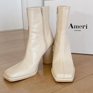 Ameri VINTAGE - Ameri Vintage スクエアブーツ L (ホワイト)