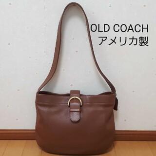 コーチ(COACH)のOLD COACH ブラウン♡レザーショルダーバッグ 型番:4166(ショルダーバッグ)