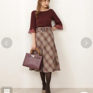 PROPORTION BODY DRESSING - 新品*ベルト付きチェックフレアスカート