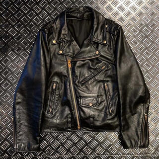 ショット(schott)の1980s double riders gold zip jacket(ライダースジャケット)