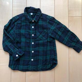 ムジルシリョウヒン(MUJI (無印良品))の無印良品 キッズ チェックシャツ 100(ブラウス)