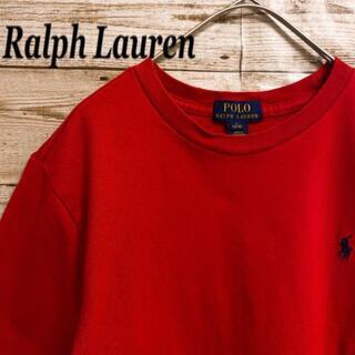 ポロラルフローレン(POLO RALPH LAUREN)の《刺繍ロゴ》ポロラルフローレン POLO RALPH LAUREN 赤色 半袖(Tシャツ/カットソー(半袖/袖なし))