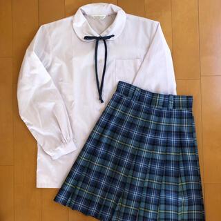 制服スカート ブラウス リボン 中学 高校 女子 制服セット