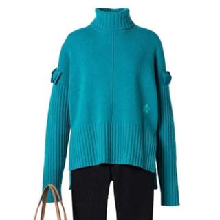 エムズグレイシー(M'S GRACY)の☆M'S GRACY☆お袖リボンが可愛いルーズタートルネックセーター♪(ニット/セーター)