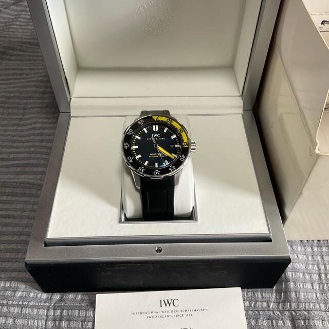 IWC(インターナショナルウォッチカンパニー)のIWC アクアタイマー 2000 IW356810 ブラック SS ラバー メンズの時計(腕時計(アナログ))の商品写真