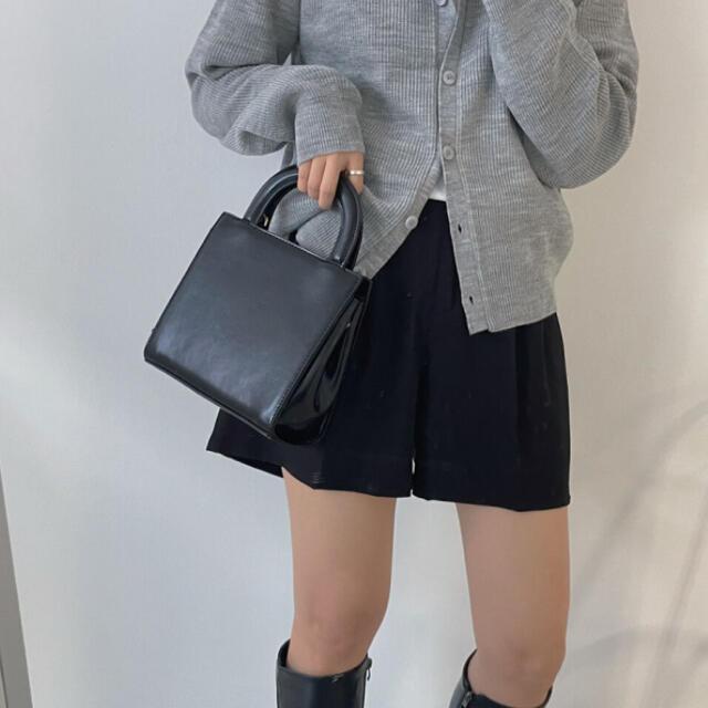 STYLENANDA(スタイルナンダ)の【予約商品】《3カラー》スクエアバッグ チェーン付 秋 韓国ファッション レディースのバッグ(ショルダーバッグ)の商品写真