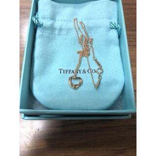ティファニー(Tiffany & Co.)の750 K18 ティファニー オープンハート ネックレス(ネックレス)