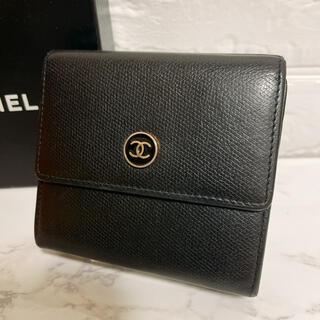 CHANEL - 極美品 CHANEL シャネル ココボタン Wホック 折財布