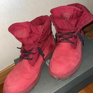 ティンバーランド(Timberland)のTimberland ティンバーランド ロールトップブーツ 24.5 赤(ブーツ)