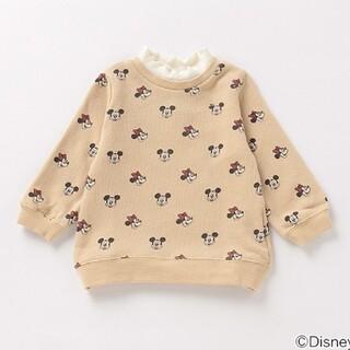 プティマイン(petit main)の新品 プティマイン ミッキーミニー トレーナー 120センチ(Tシャツ/カットソー)
