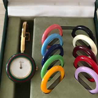 Gucci - グッチ GUCCI 腕時計チェンジベゼル 稼働品