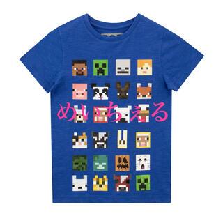 マイクロソフト(Microsoft)の【新品】ブルー Minecraft Tシャツ(Tシャツ/カットソー)