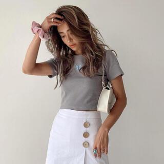ALEXIA STAM - アリシアスタン バタフライ Tシャツ グレー ロンT  パーカー