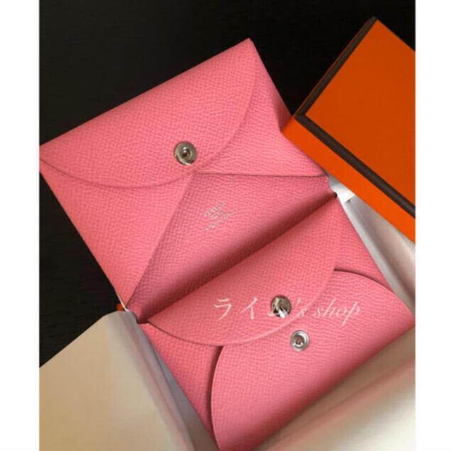 Hermes(エルメス)の【新品未使用】HERMES カルヴィデュオ ローズコンフェッティ レディースのファッション小物(財布)の商品写真