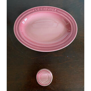 LE CREUSET - ルクルーゼ  ミニオーバル プレート 箸置き ピンク