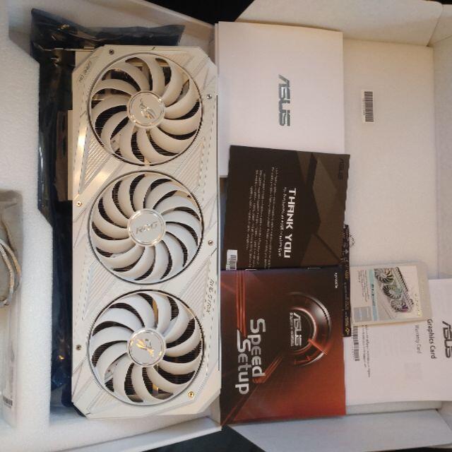 ASUS(エイスース)の☆ほぼ新品☆ROG-STRIX-RTX3080-O10G-WHITE-V2 スマホ/家電/カメラのPC/タブレット(PCパーツ)の商品写真